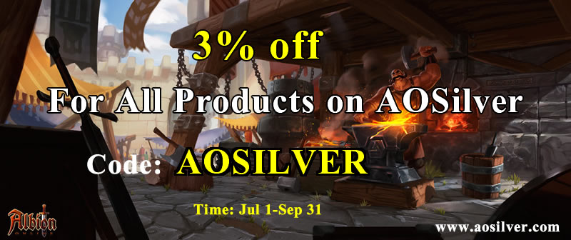 "Why choose AOSilver.com to buy albion online silver with 3% off code""AOSILVER"""