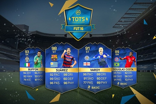 Last main FIFA 16 TOTS sees return of Vardy and Kane, 99 Ronaldo