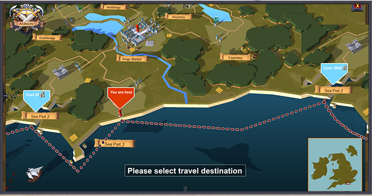Travel In Albion Online