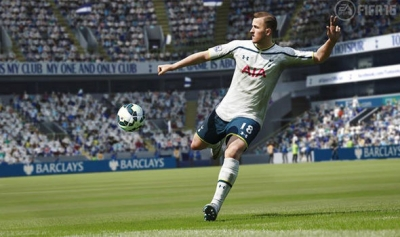 A WANTED MAN: Tottenham star Harry Kane set to join rival Chelsea ace in FIFA 16 pics