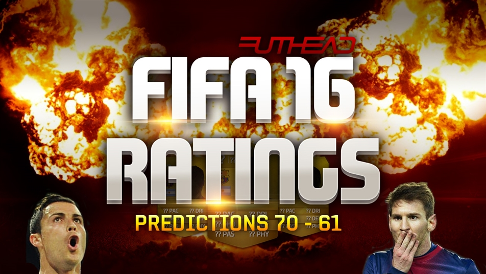 FIFA 16 Ratings Predictions: 70 - 61