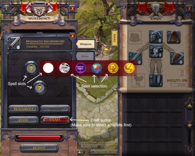 albion online the main interface