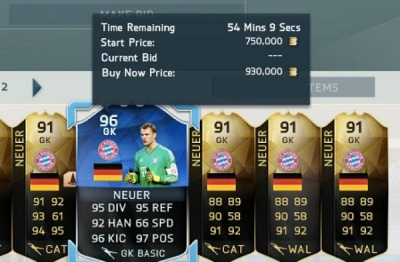 psfifacoins:FIFA 16 TOTY Neuer, Ramos, Silva, Alves, Marcelo price range