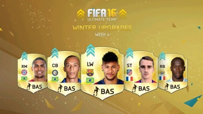 psfifacoins:FIFA 16 Winter Upgrades Week 4 list release time