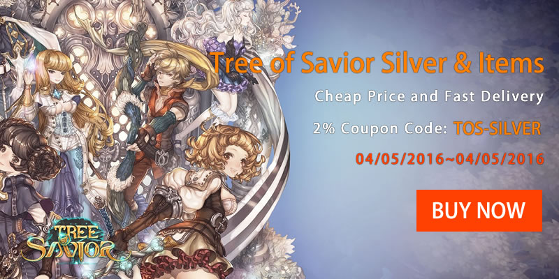 Get 2% Coupon Code to Buy Tree of Savior on TOSGold.com
