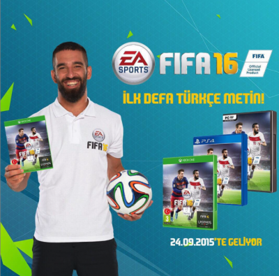 Barcelona star Arda Turan included on FIFA 16 cover alongside Messi
