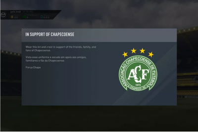 FIFA 17 pays tribute to Brazilian club and fans devastated by air disaster