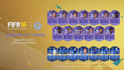 FIFA 16 release hero cards for entire Leicester City squad