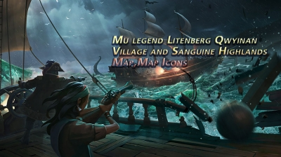 Mu legend Litenberg Qwyinan Village and Sanguine Highlands Map,Map Icons