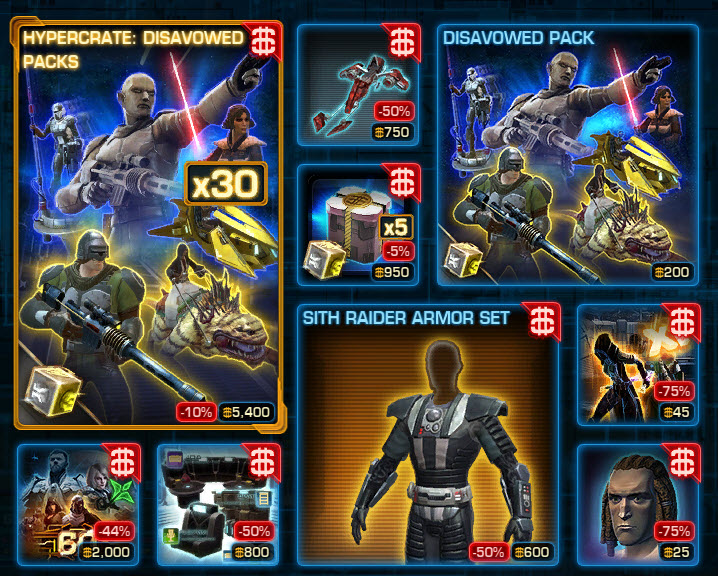 SWTOR CM Weekly Sales March 15 – 22 on wildstar-gold