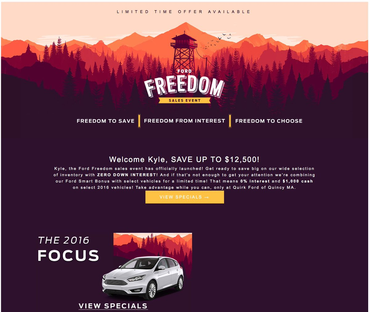 Ford dealership uses art from Firewatch for ad -- without permission, of course [UPDATE] - ucabal2.com