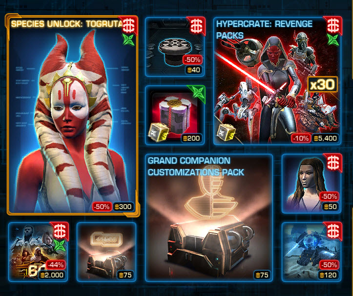 ucabal2 - SWTOR CM Weekly Sales June 21 – 28