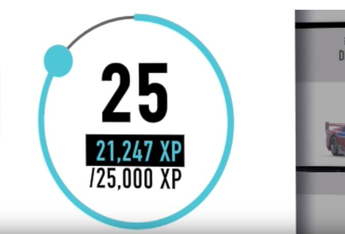 25,000 XP to level up