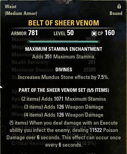 Belt Of Sheer Venom