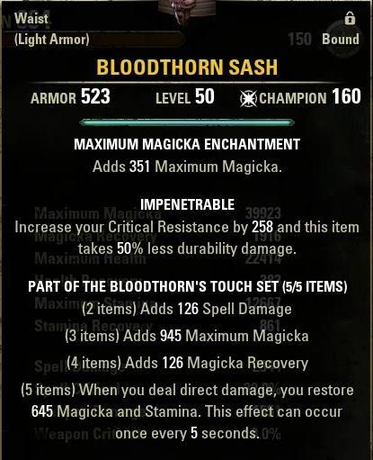 Bloodthorn Sash