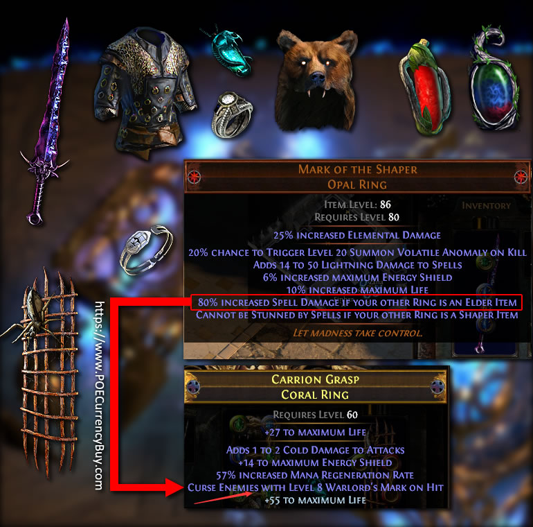 Cospri's Malice Shadow COC build items