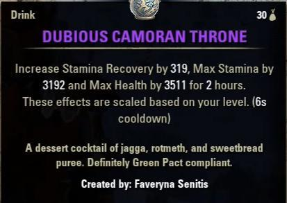 Dubious Camoran Throne