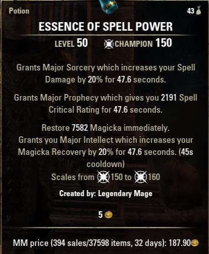 Essence Of Spell Power