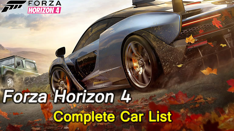 Forza Horizon 4 Complete Car List
