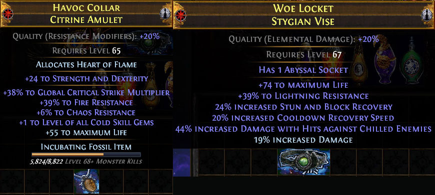 PoE 3.10 Delirium CoC Assassin Jewellery
