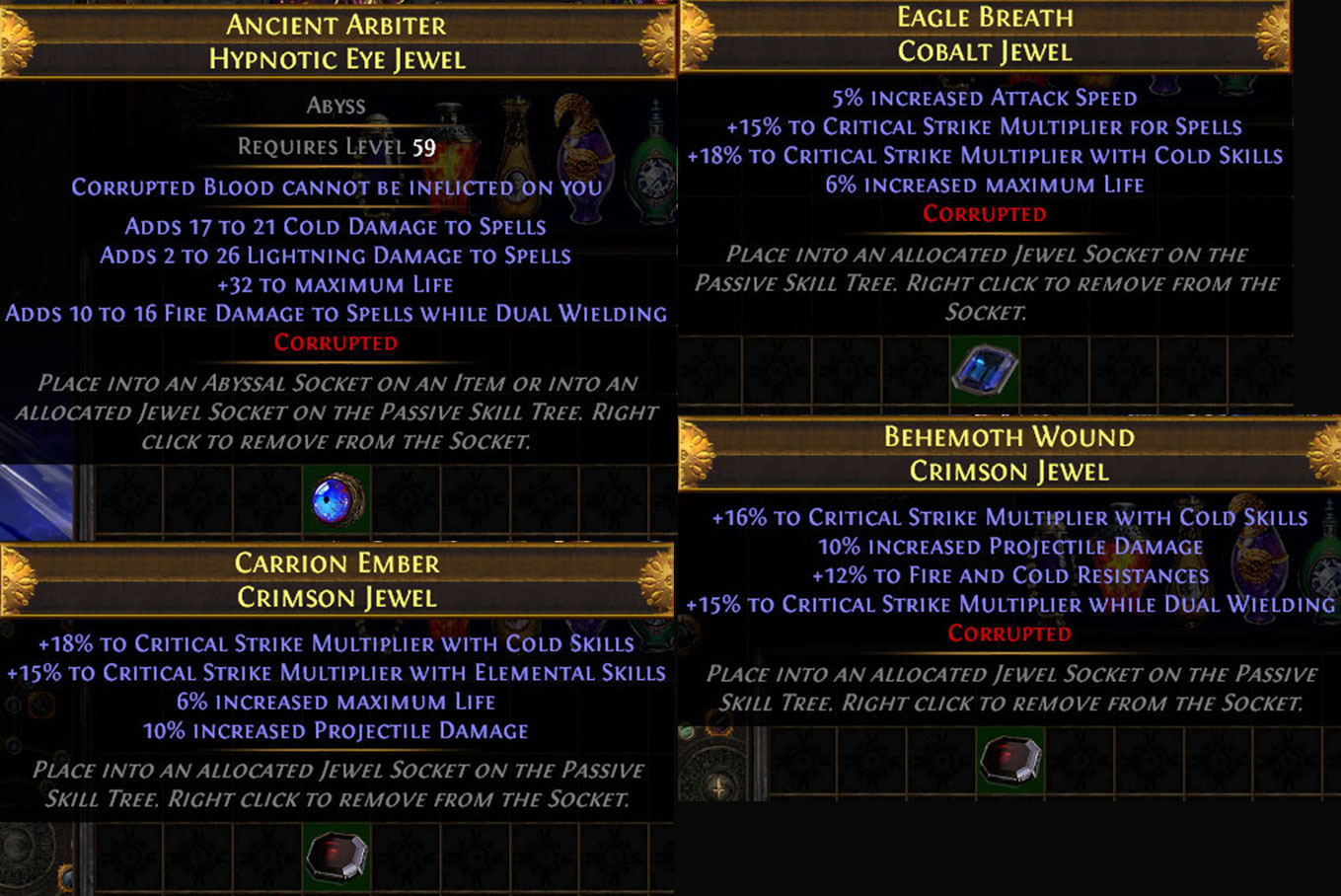 PoE 3.10 Delirium CoC Assassin Jewels