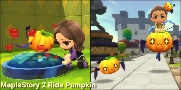 MapleStory 2 Ride Pumpkin