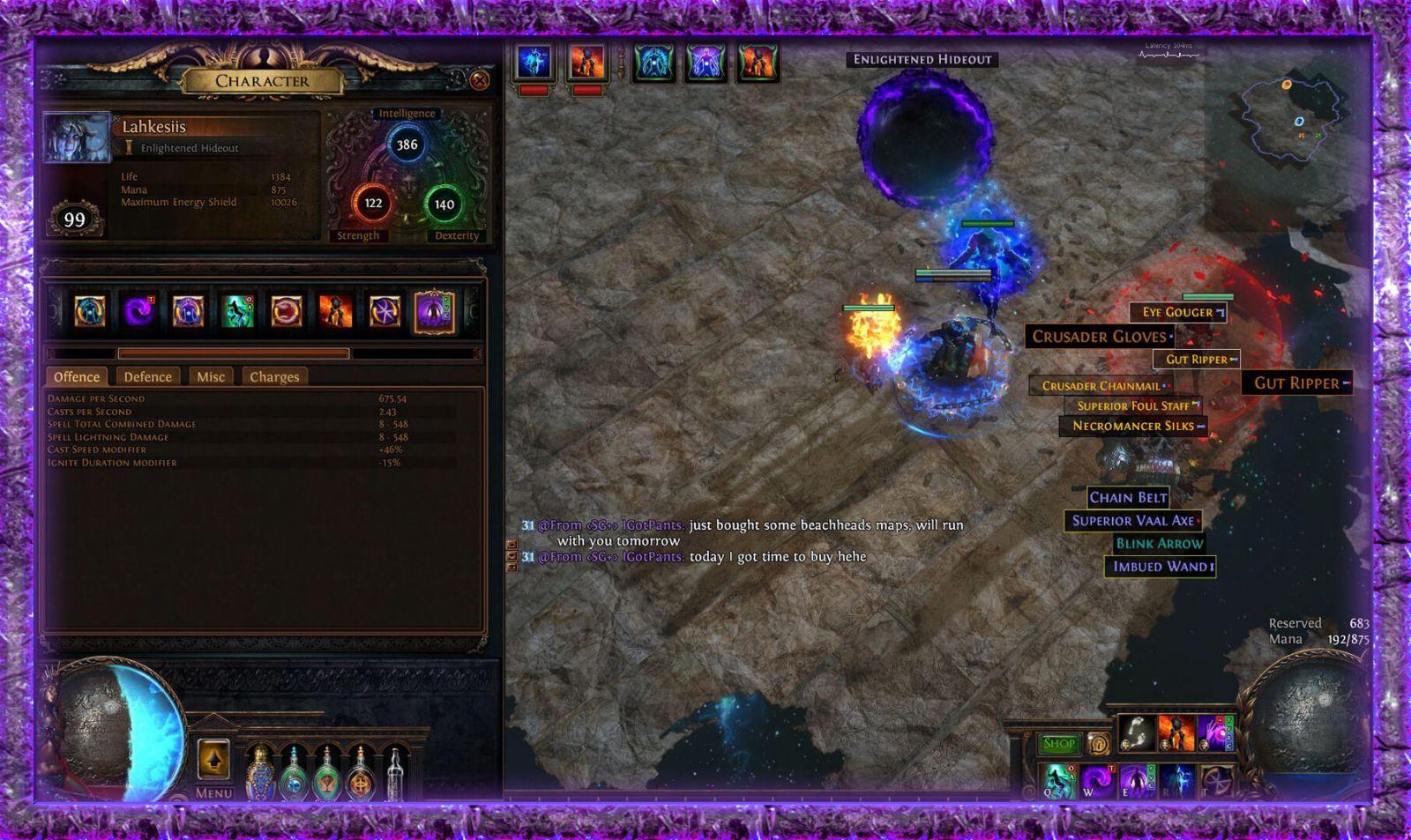 POE 3 3 Witch Starter Builds - Necromancer | Occultist