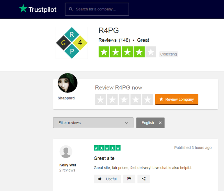 Find R4PG on TrustPilot 1