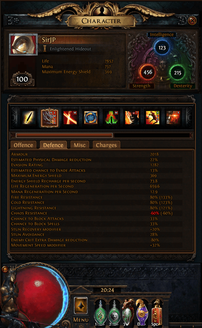 PoE 3.3 Gladiator/Slayer Sunder Build PIC 2