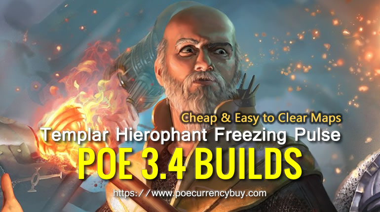 POE 3.4 Templar Hierophant Freezing Pulse Build - Cheap & Easy to Clear Maps