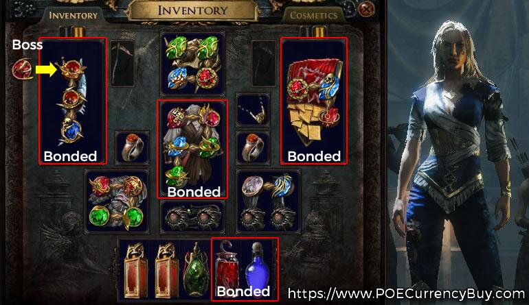 POE 3.6 Scion Arakaali's Fang Build itmes and Skill Gems