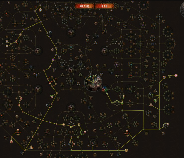 POE 3.5 Ranger Raider Starter Molten Strike Tree