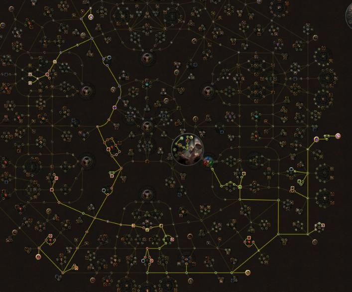 POE 3.6 Ranger Molten Strike Raider Passive Skill Tree
