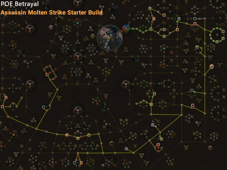 POE Betrayal Assassin Molten Strike Skill Tree