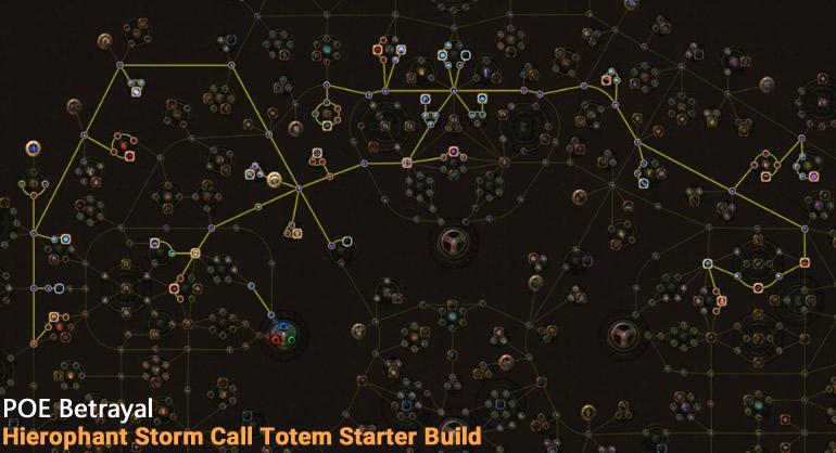 POE Betrayal Hierophant Storm Call Totem Skill Tree