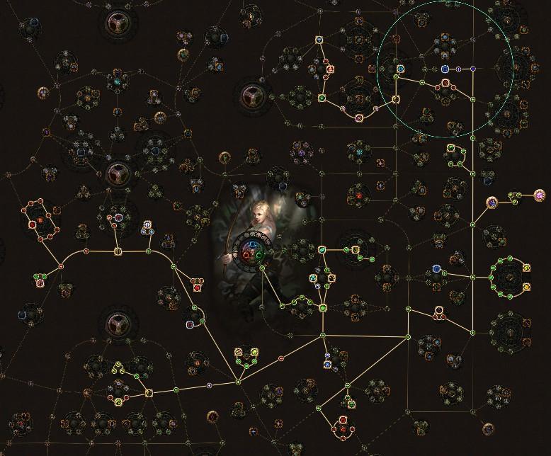 POE 3.5 Ranger Pathfinder Toxic Rain + Herald Of Agony Skill Tree