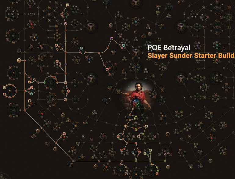 POE Betrayal Slayer Sunder Skill Tree