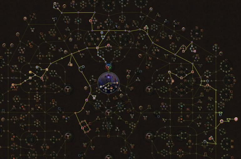POE 3.5 Witch Elementalist Starter Winter Orb Skill Tree
