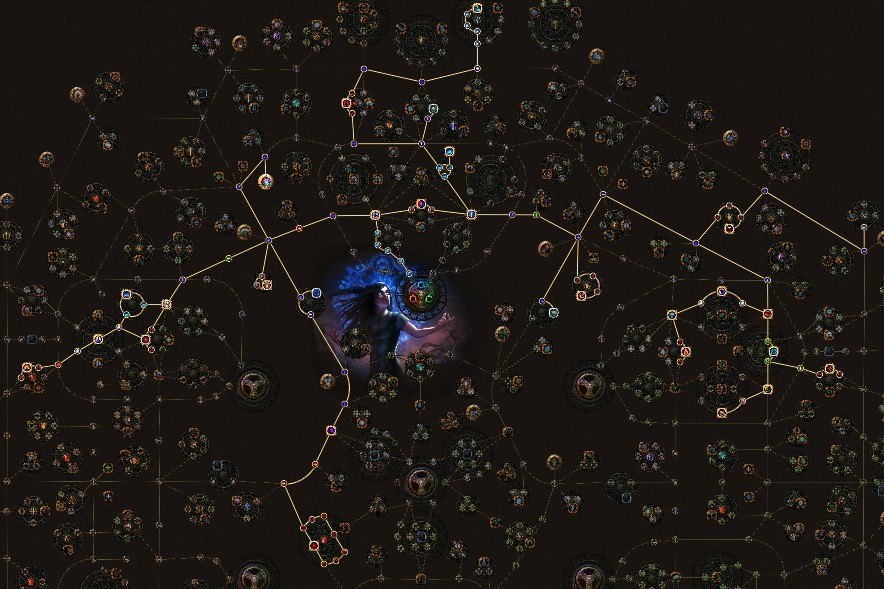 POE 3.5 Witch Occultist Starter Vortex Cold Snap Skill Tree
