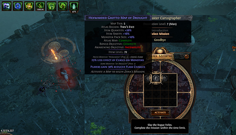 Path of Exile Useful Tips 02 - Check Your Unfinished Map Details