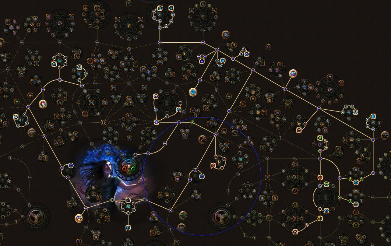 PoE 3.11 Witch Vortex Cold Snap Occultist SkillTree