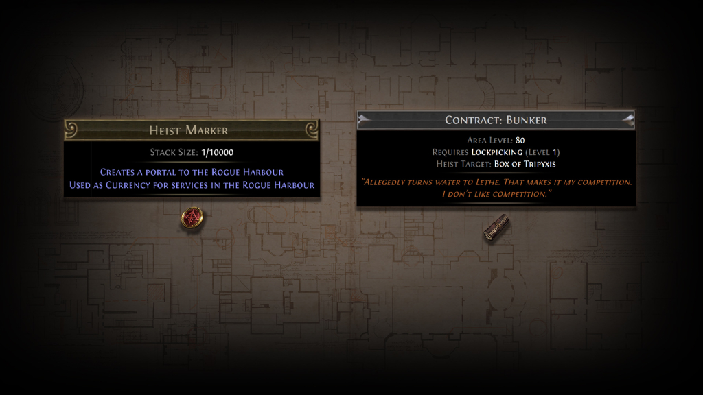 PoE 3.12 Heist Markers and Contracts