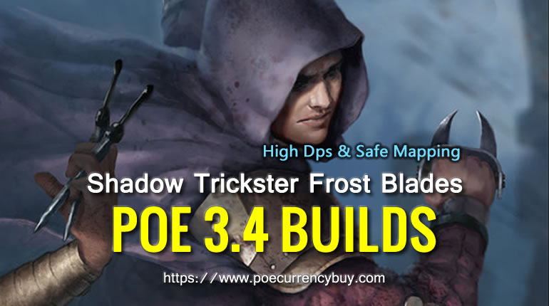 PoE 3.4 Shadow Trickster Frost Blades Build - High Dps & Safe Mapping