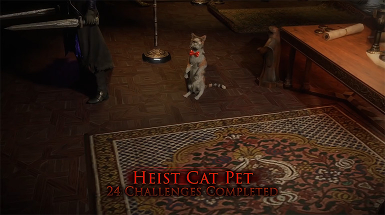 PoE Heist 24 Challenge Rewards Cat Pet