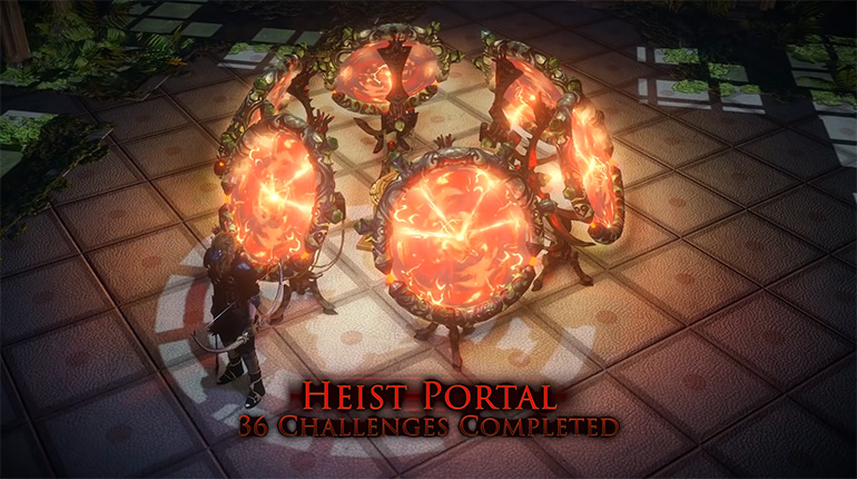 PoE Heist 36 Challenge Rewards Portal