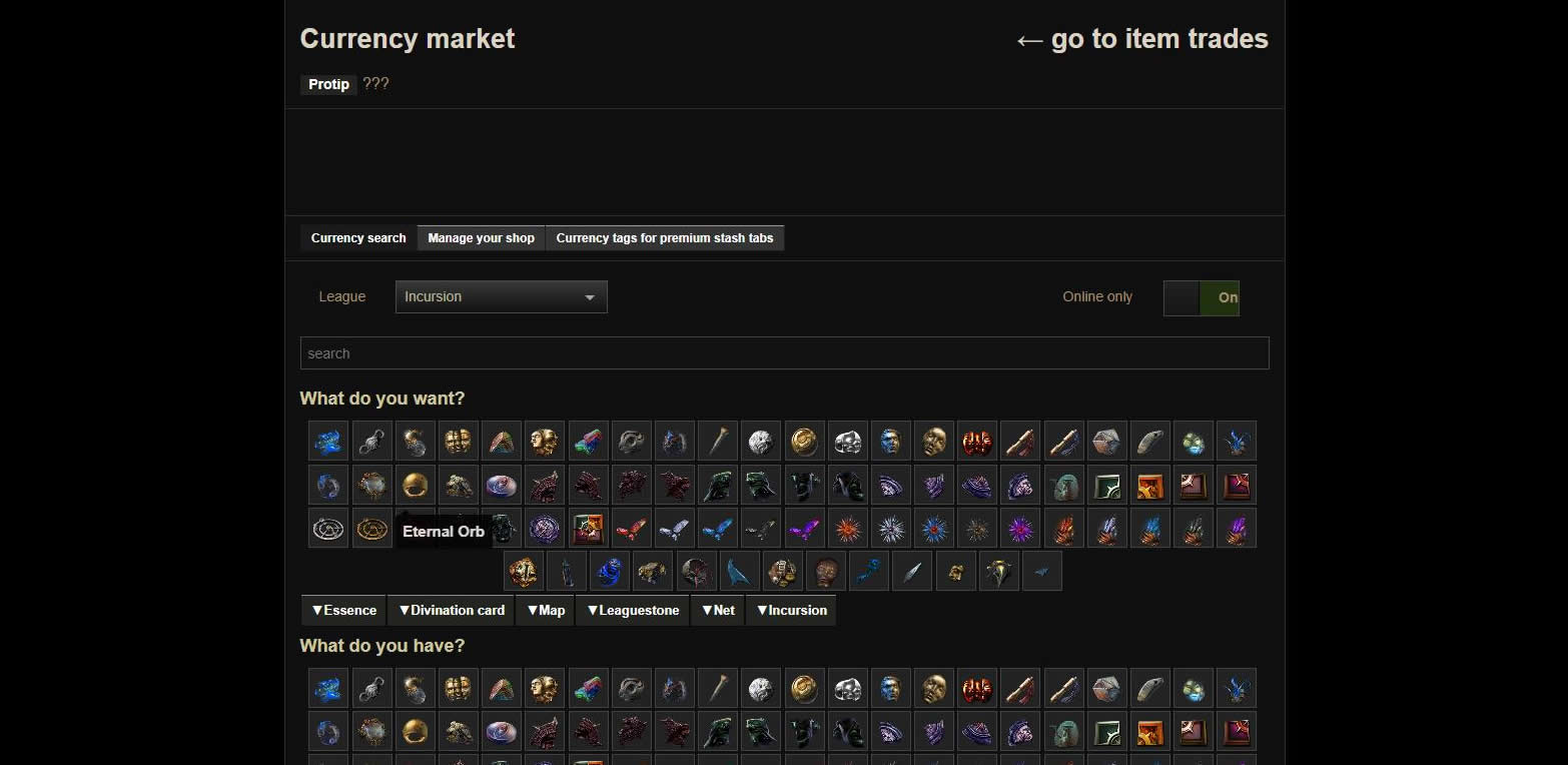 PoE Trade Currency Guide 2