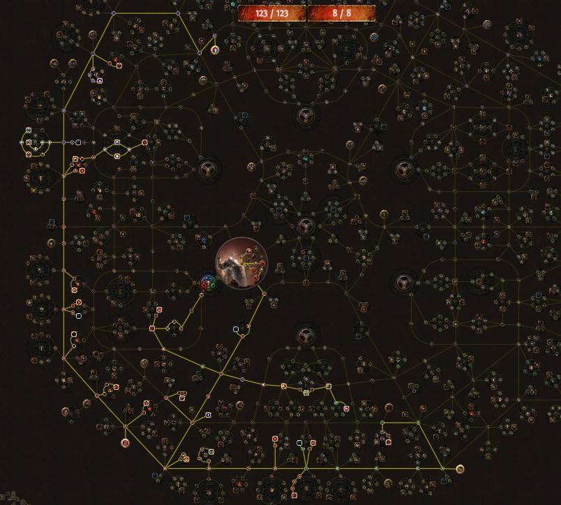 PoE 3.9 Mauarder Molten Strike Juggernaut Skill Tree