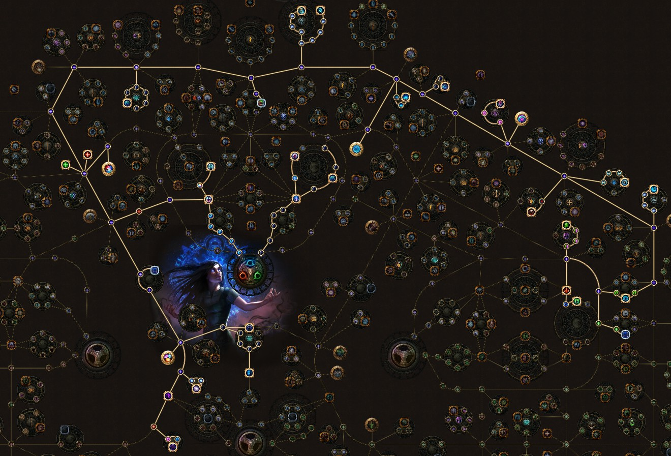PoE 3.9 Witch Vortex Cold Snap Occultist Skill Tree