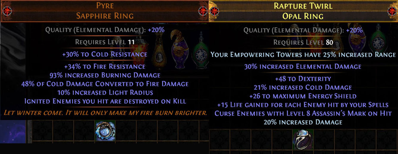 PoE 3.10 Delirium CoC Assassin Ring