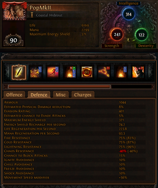 What Stats To Build On Templar Poe